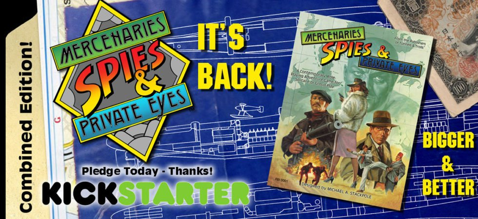 Mercenaries, Spies & Private Eyes Kickstarter